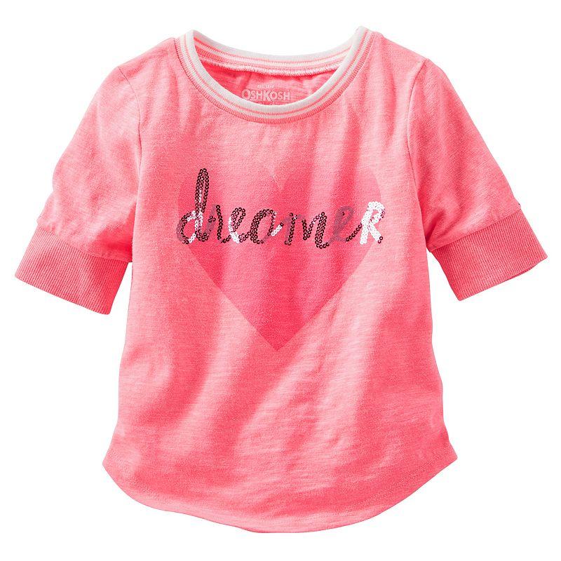 Toddler Girl OshKosh B'gosh® Sparkle Baseball Tee