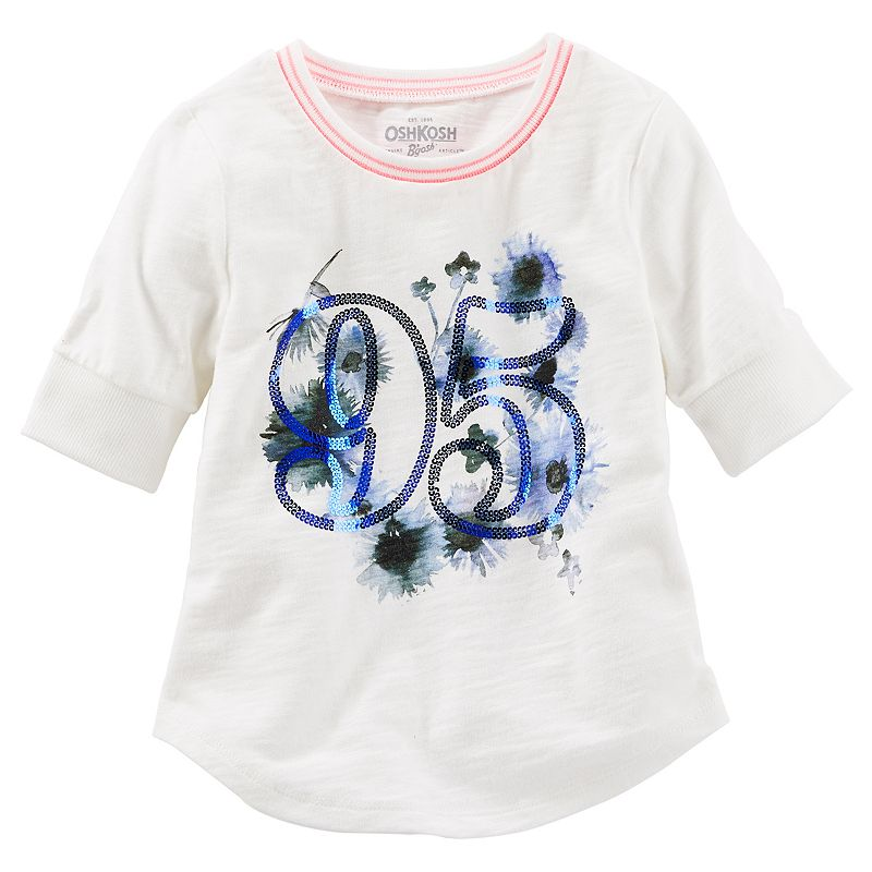 Toddler Girl OshKosh B'gosh® Sparkle Baseball Tee