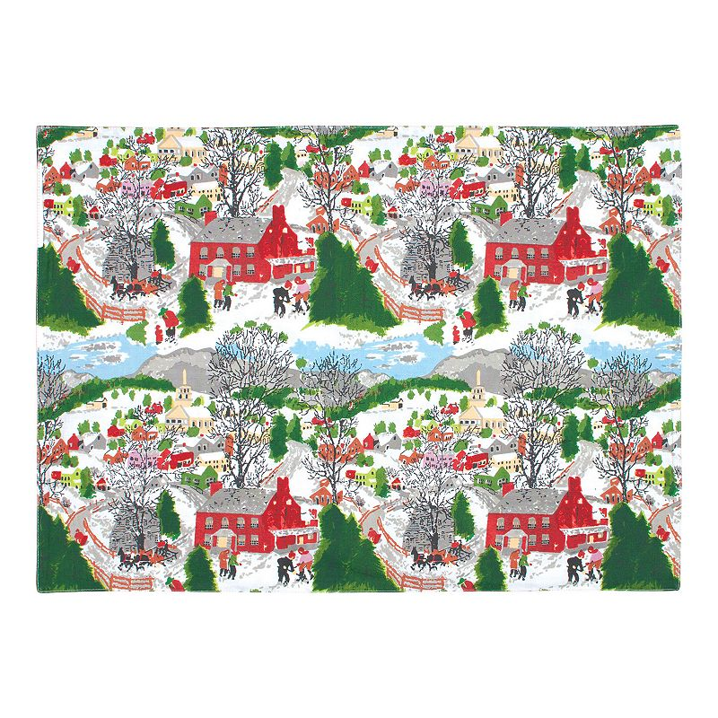 Winter Village Holiday 4-pc. Placemat Set