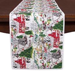 KAF HOME Winter Village Holiday Table Runner 14\