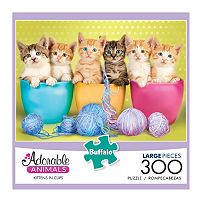 Adorable Animals 300-pc. Kittens in Cups Jigsaw Puzzle by Buffalo Games