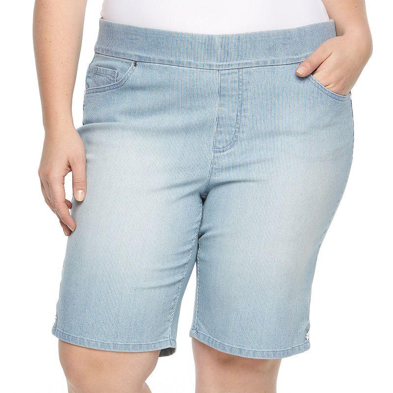 Plus Size Gloria Vanderbilt Avery Pull-On Bermuda Jean Shorts