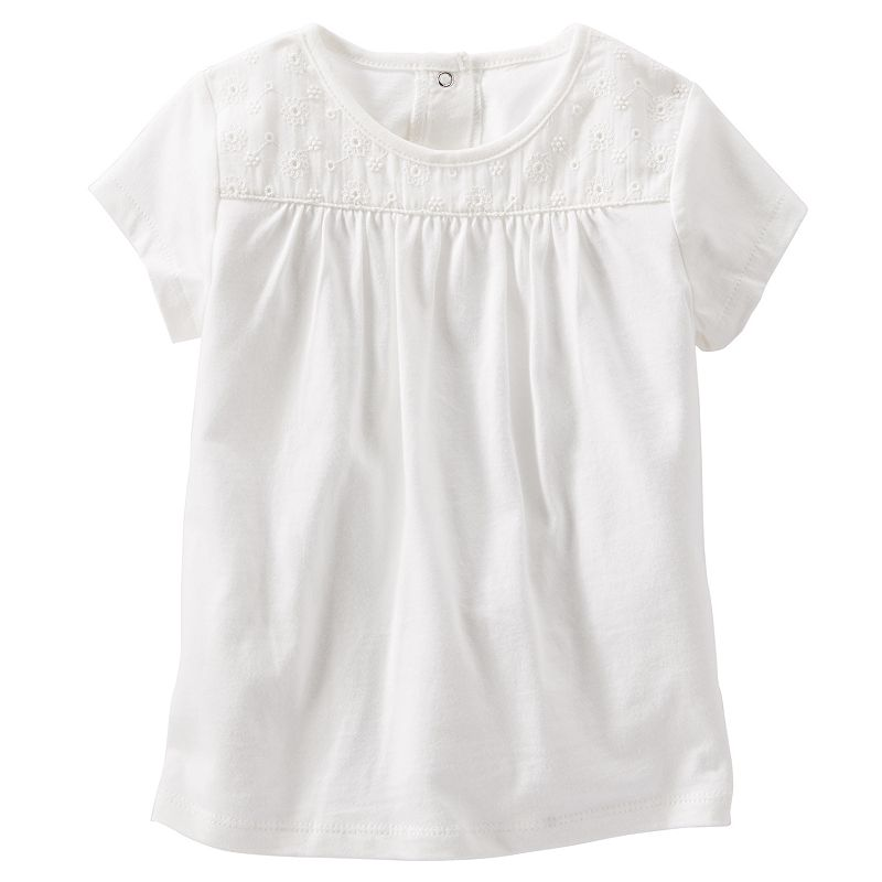 Toddler Girl OshKosh B'gosh® Lace Yoke Tee