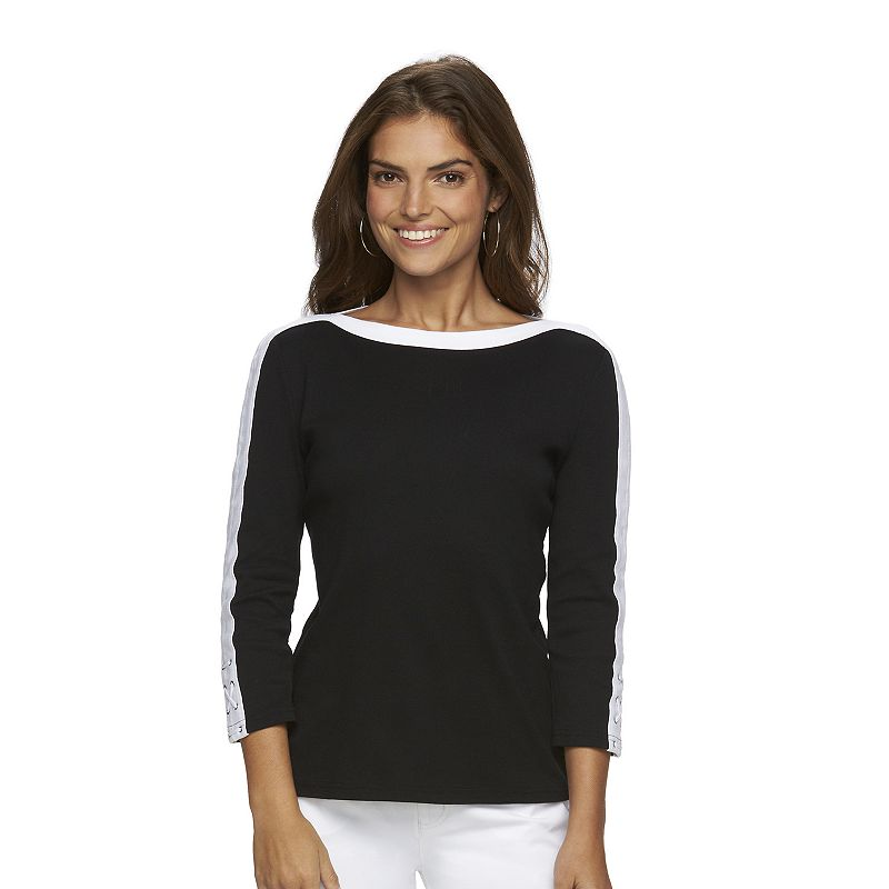 Women's Chaps Colorblock Boatneck Top