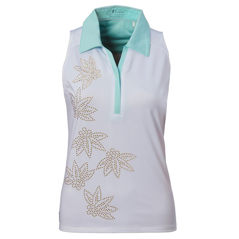 Plus Size Nancy Lopez Wish Sleeveless Golf Polo