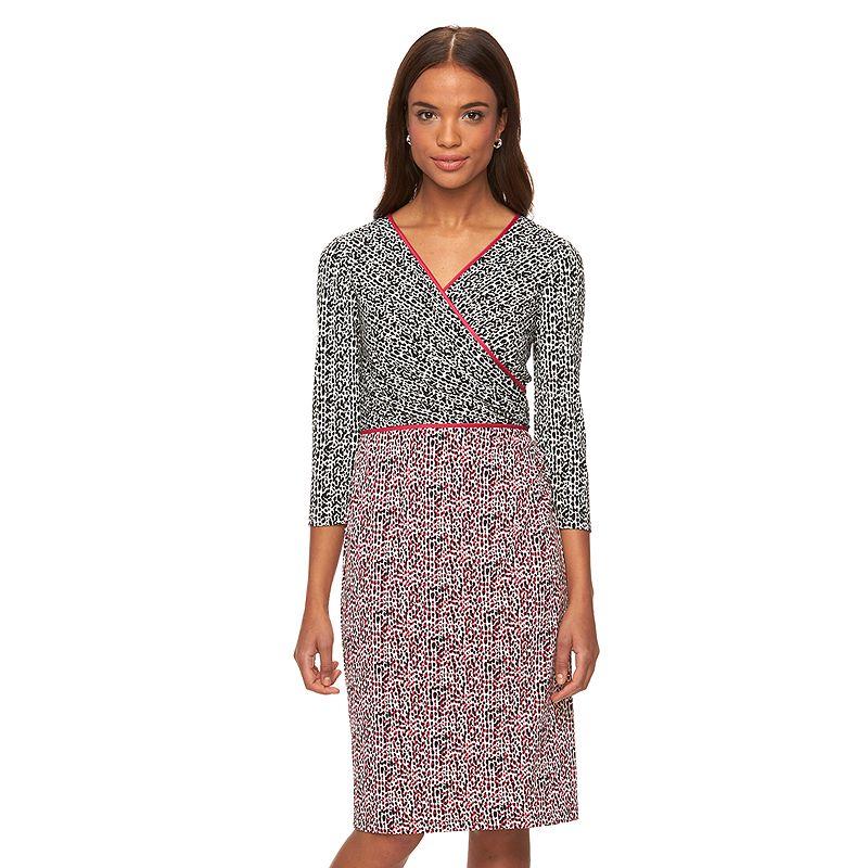 Women's Suite 7 Faux-Wrap Dress