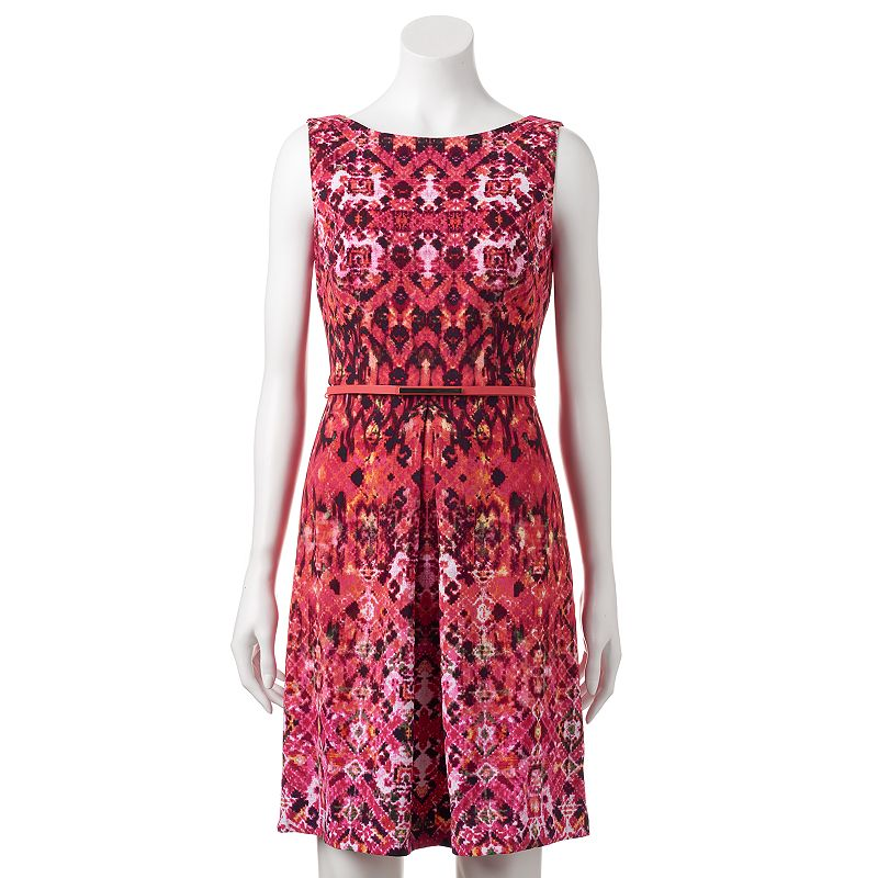 Women's Suite 7 Abstract Print Fit & Flare Dress