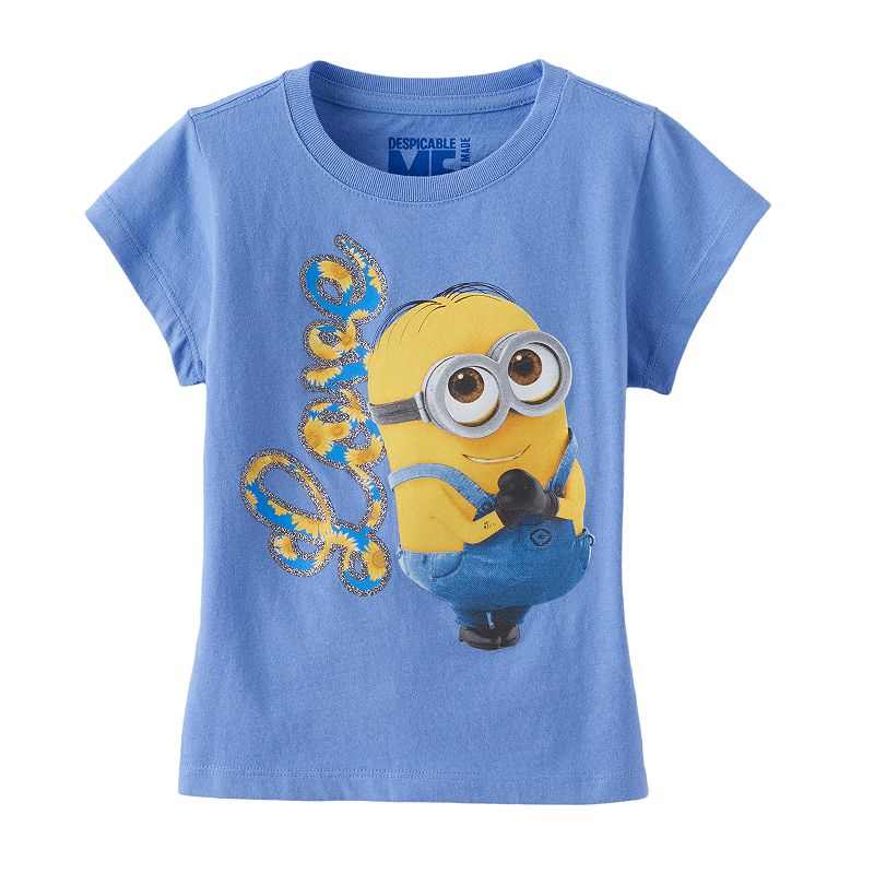 Girls 4-6x Despicable Me Minion Glitter Tee