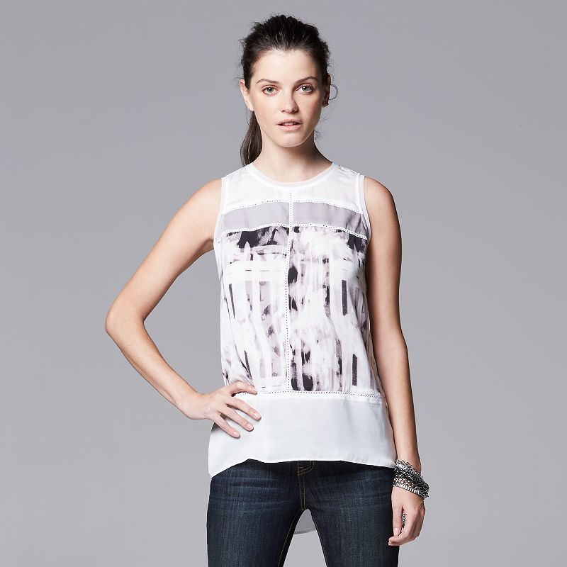 Women's Simply Vera Vera Wang Colorblock Tank
