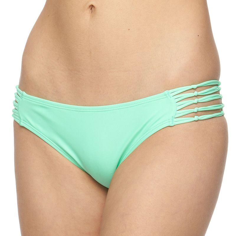 Juniors' In Mocean Strappy Bikini Bottoms