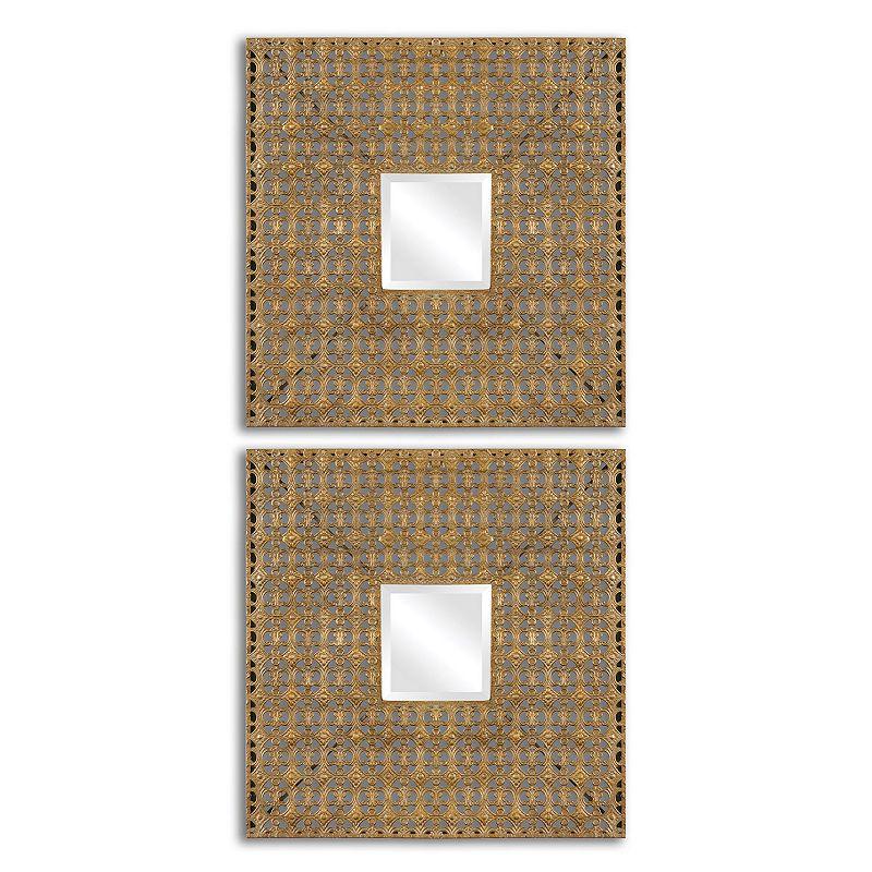 Adelina Squares Wall Mirror 2-piece Set