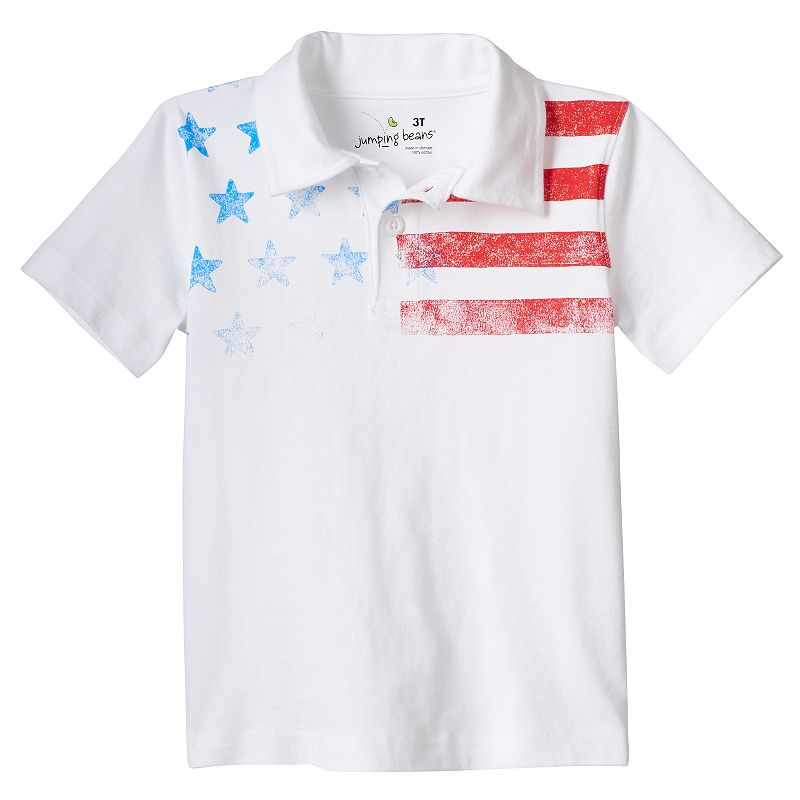 Toddler Boy Jumping Beans® Flag Polo