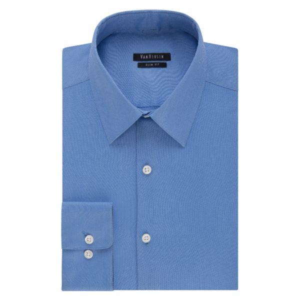 Men's Van Heusen Slim-Fit Wrinkle-Free Pique Dress Shirt