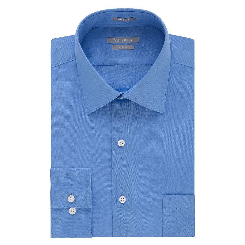 Men's Van Heusen Fitted Wrinkle-Free Pincord Dress Shirt