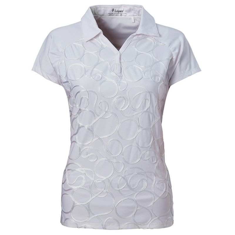 Plus Size Nancy Lopez Ribbon Golf Polo