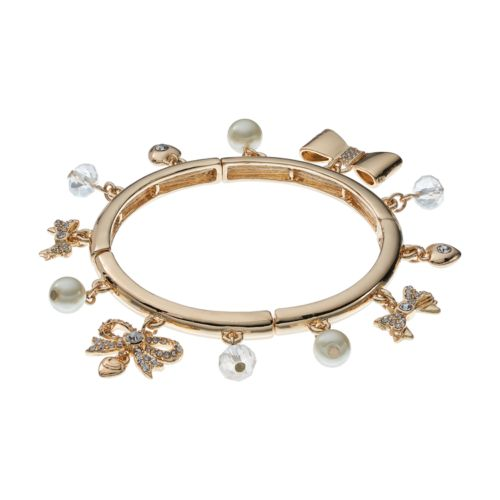 Juicy Couture Bow Charm Stretch Bracelet