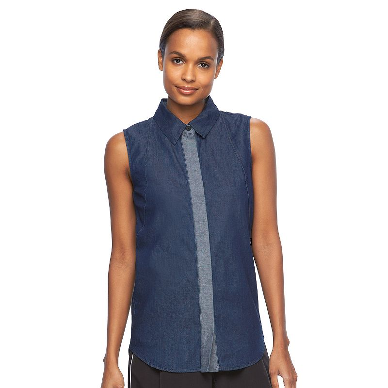 Women's REED Chambray Sleeveless Shirt
