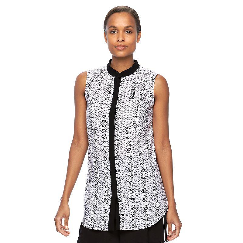Women's REED Print Sleeveless Shirt