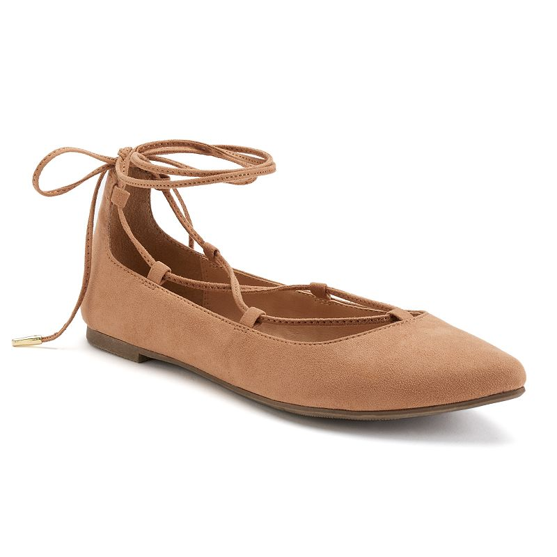 Candie's® Women's Ghillie Lace-Up Flats