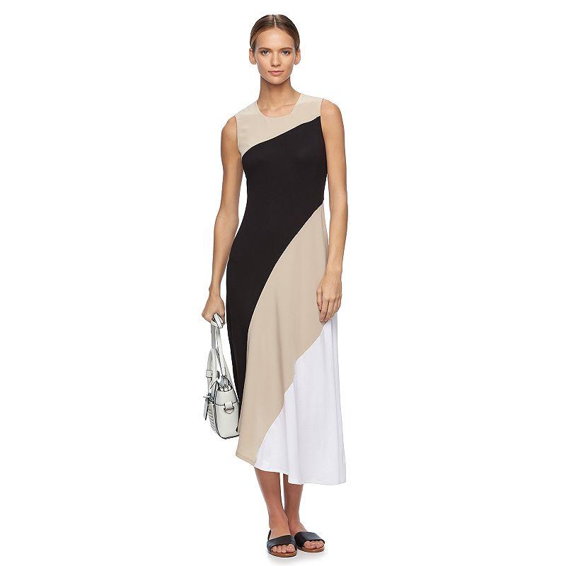 Women's REED Asymmetrical Colorblock Maxi Dress