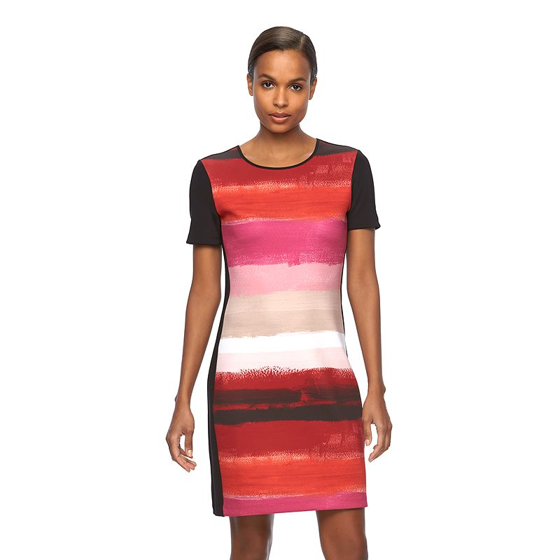 Women's REED Print Scuba Sheath Dress