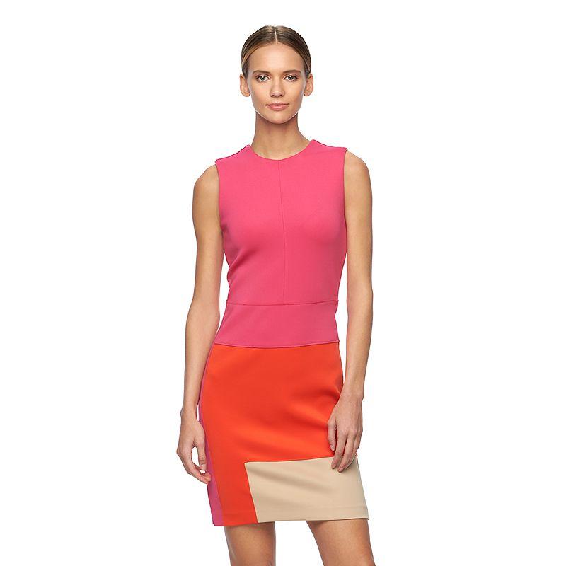 Women's REED Geometric Scuba Sheath Dress