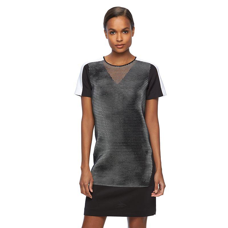 Women's REED Mesh Scuba Shift Dress