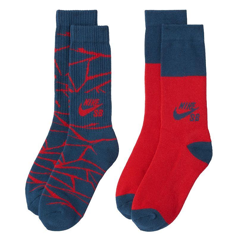 Boys Nike SB Hazard 2-Pack Crew Socks