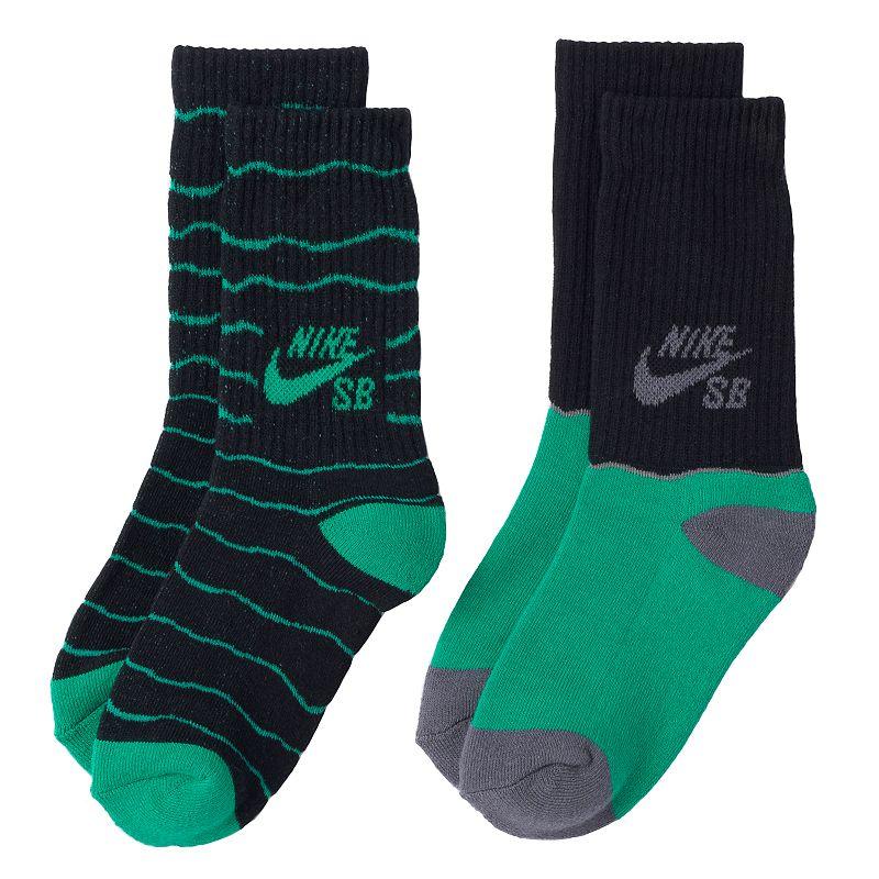 Boys Nike SB Grip 2-Pack Crew Socks