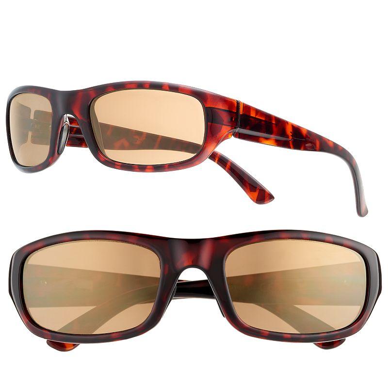 Men's Tek Gear Rectangular Tortoise Sunglasses