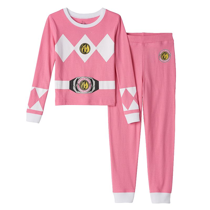 Girls 4-10 Power Rangers Pink Ranger Tee & Leggings Set