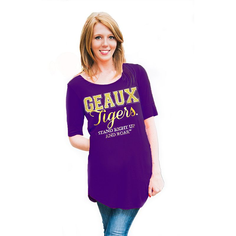 Women's Gameday Couture LSU Tigers Slogan Slouchy Tee