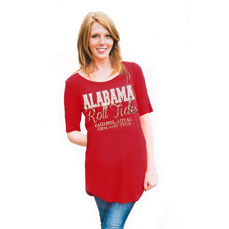 Women's Gameday Couture Alabama Crimson Tide Slogan Slouchy Tee