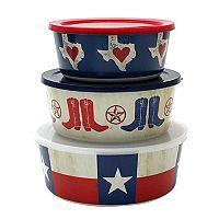 Celebrate Local Life Together Texas 3-pc. Melamine Nesting Bowl Set