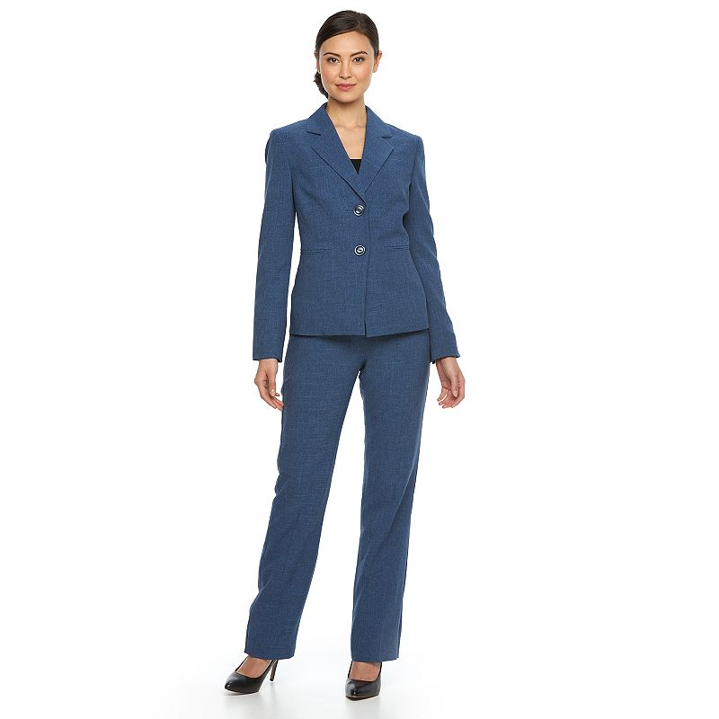 Women's Le Suit Crosshatch Jacket & Pants Set