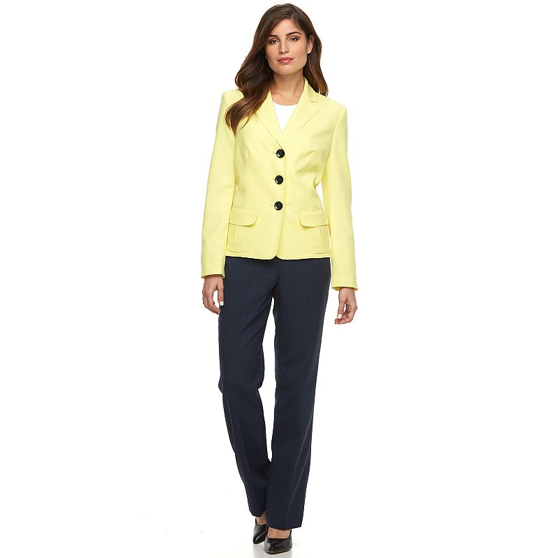 Women's Le Suit Suit Jacket & Pants Set