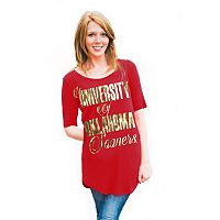 Women's Gameday Couture Oklahoma Sooners Logo Slouchy Tee