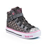 Skechers Twinkle Toes Shuffles Sweetheart Sole Girls' Light-Up Sneakers