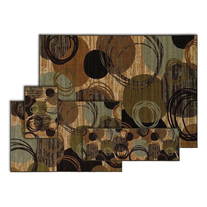 StyleHaven Stonemont Contempo Circle Flourish 4-pc. Rug Set