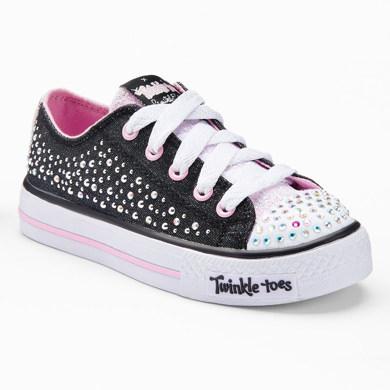 Skechers Twinkle Toes Shuffles Sparkle Wishes Girls' Light-Up Sneakers