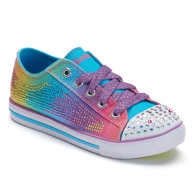 Skechers Twinkle Toes Chit Chat Electro Spark Girls' Light-Up Shoes