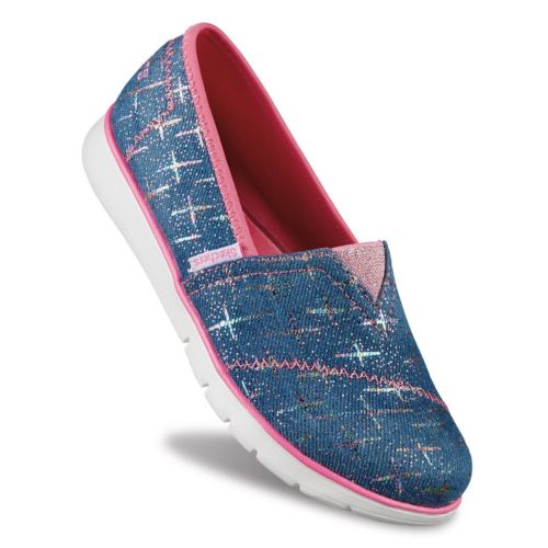Skechers Pureflex Denim Dazzle Girls' Slip-On Shoes