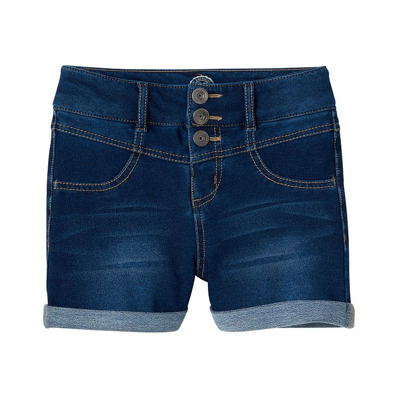 Girls 7-16 & Plus Size SO® High-Waisted Denim Shorts
