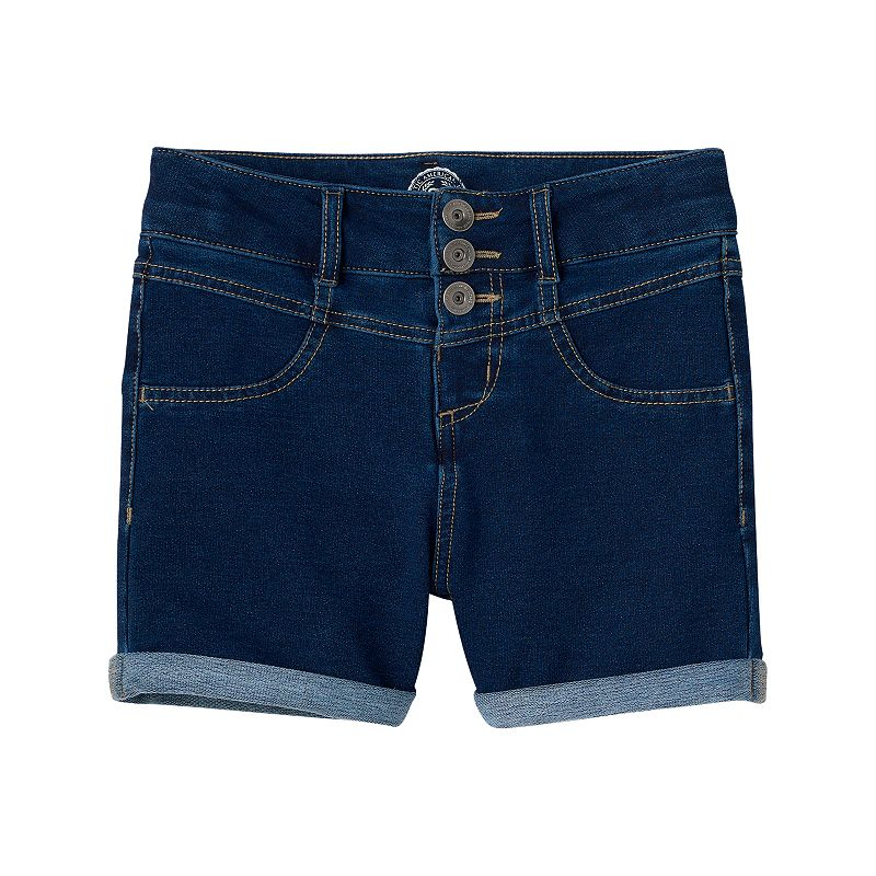 Girls 7-16 & Plus Size SO® High-Waisted Denim Shorts