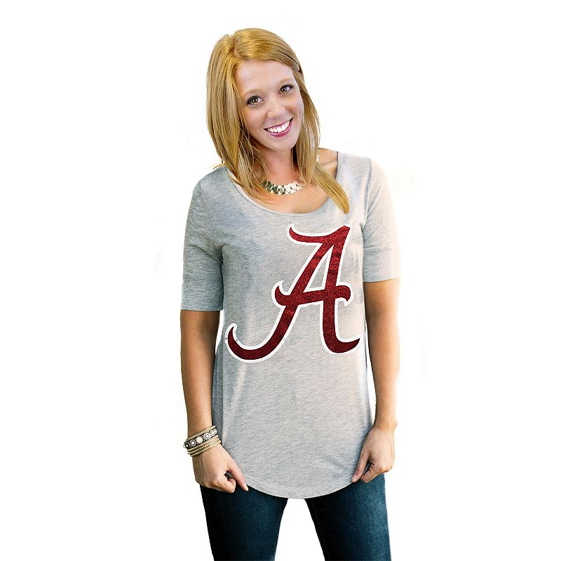 Women's Gameday Couture Alabama Crimson Tide Gray Slouchy Tee