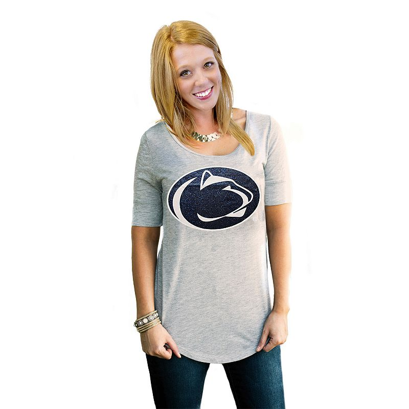 Women's Gameday Couture Penn State Nittany Lions Gray Slouchy Tee