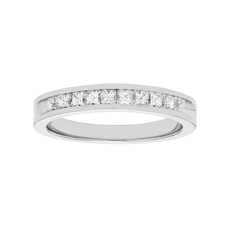 14k White Gold 1/2 Carat T.W. Diamond Anniversary Ring