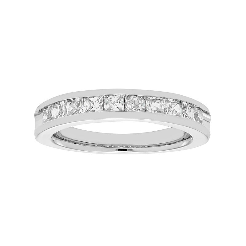 14k White Gold 1 Carat T.W. Diamond Anniversary Ring