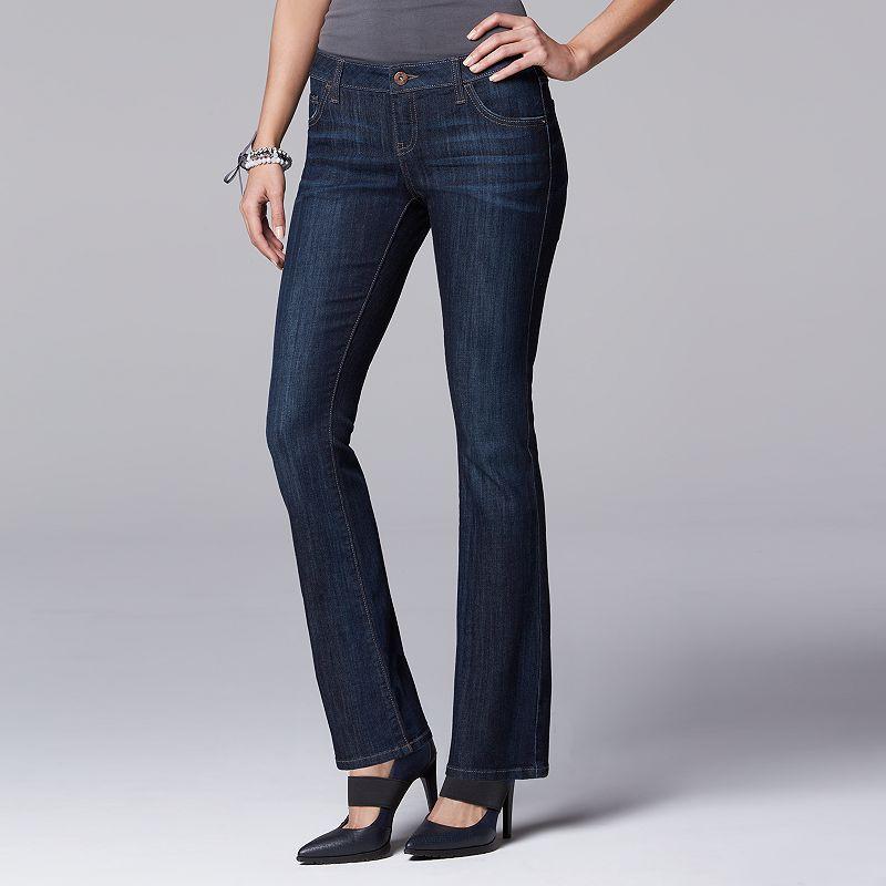 Petite Simply Vera Vera Wang Bootcut Jeans