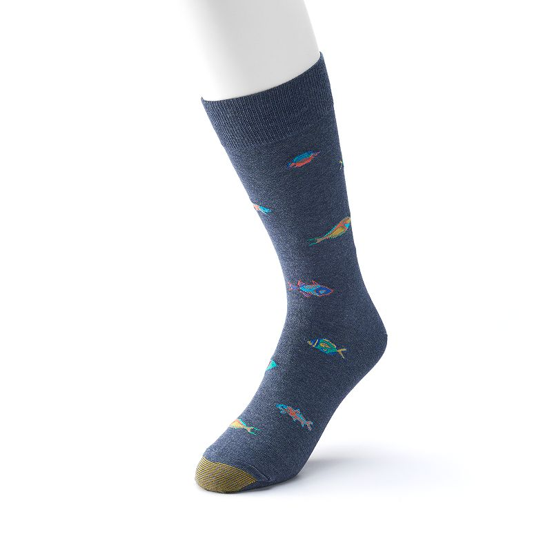 Men's GOLDTOE Tropical Fish Crew Socks